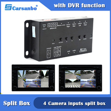 4CH Quad Input Video Split Box Met Recorder Functie Ondersteuning 4 Camera Video Voor/Achter/Links/Rechts/Side View Camera