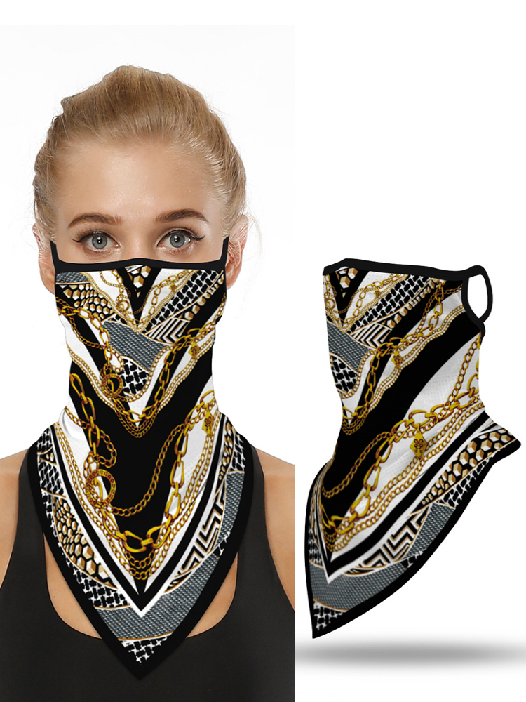 2020 New Fashion Chain Print Breathable Face Cover Windproof Bandana Outdoors