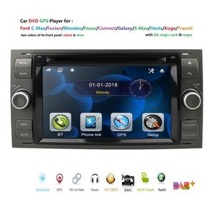 """2020 Car DVD 7"""" gps For Ford Focus Transit C-MAX Mondeo Fiest GPS Navigation Mirror link DAB+ Free rear camera 16GB Map card(China)"""