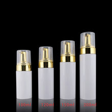 12ps 100ml 4 oz 8 oz Wholesale Foamer Pumps Bottle Refillable Empty lashes Cleanser Foam Soap Foaming Dispenser With Golden