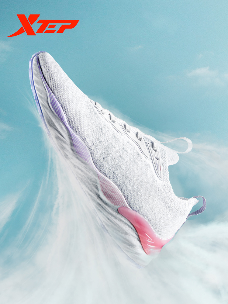 Xtep Clound femmes chaussures de course femme lumière respirant baskets sport marche athlétique maille Sneaker chaussures 981318110772 - 1