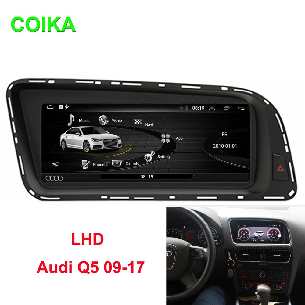 """COIKA 8.8"""" Android 10.0 System Car IPS Touch Screen Stereo For Audi Q5 2009-2017 With 2+32G RAM GPS Navi WIFI Google Carplay"""