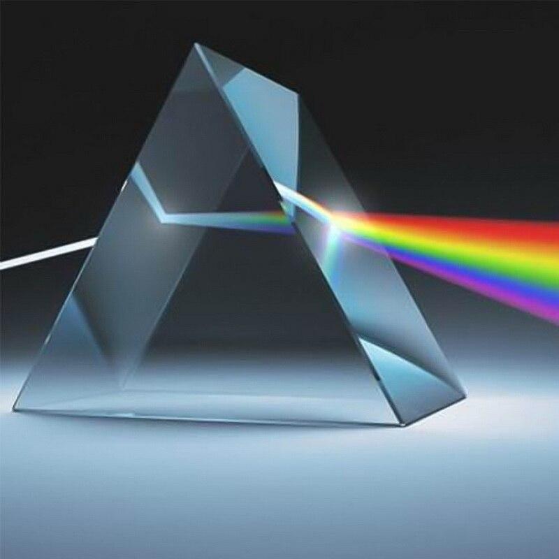 80*25 мм треугольный BK7 Оптические Призмы стекло физика Преподавание преломление светильник спектра для студентов в подарок