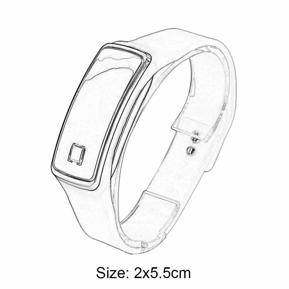 Супер легкие Смарт-часы, со светодиодом, сенсорный дизайн, спортивный бегущий цифровой браслет, мягкий силиконовый смарт-цифровой браслет A30