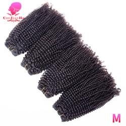 Królowa uroda 3 4 sztuk dużo brazylijski Afro perwersyjne pasma kręconych włosów Remy ludzki włos wyplata naturalny kolor 10-26 cal darmowa wysyłka