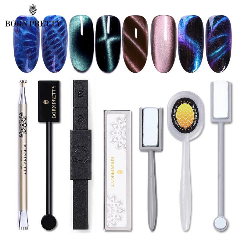 Strong Magnetic Stick Nail Tools For Magnetic Gel Nail Polish Need UV Lamp Magnet Pen Magic 3D Effect Magnetic Board 21 Styles