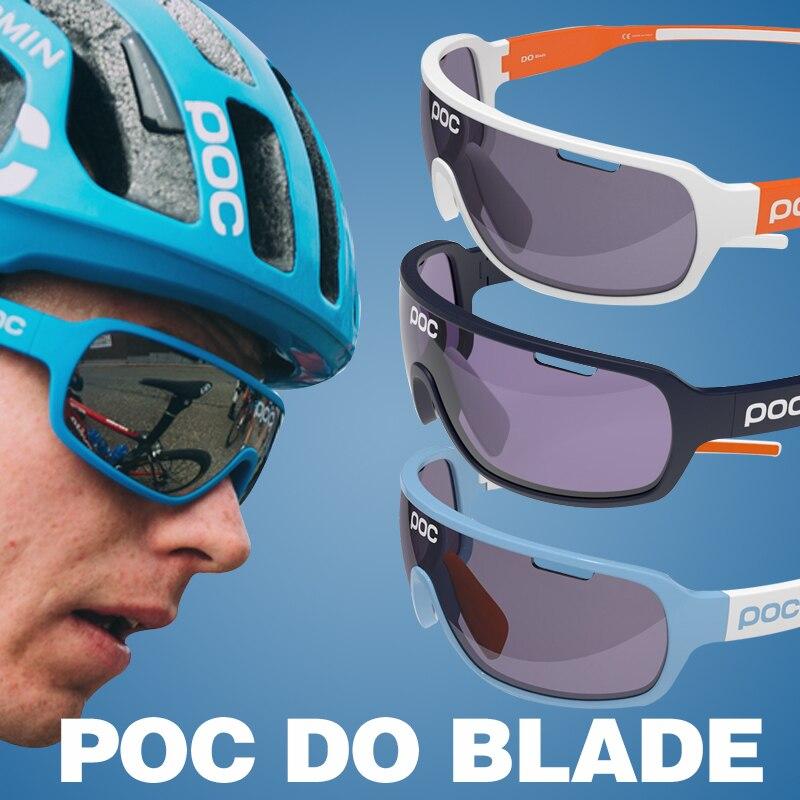 Poc do apressado venda óculos de esqui lâmina cycing óculos de sol 4 lente polarizados men sport road mtb mountain bike óculos eyewear