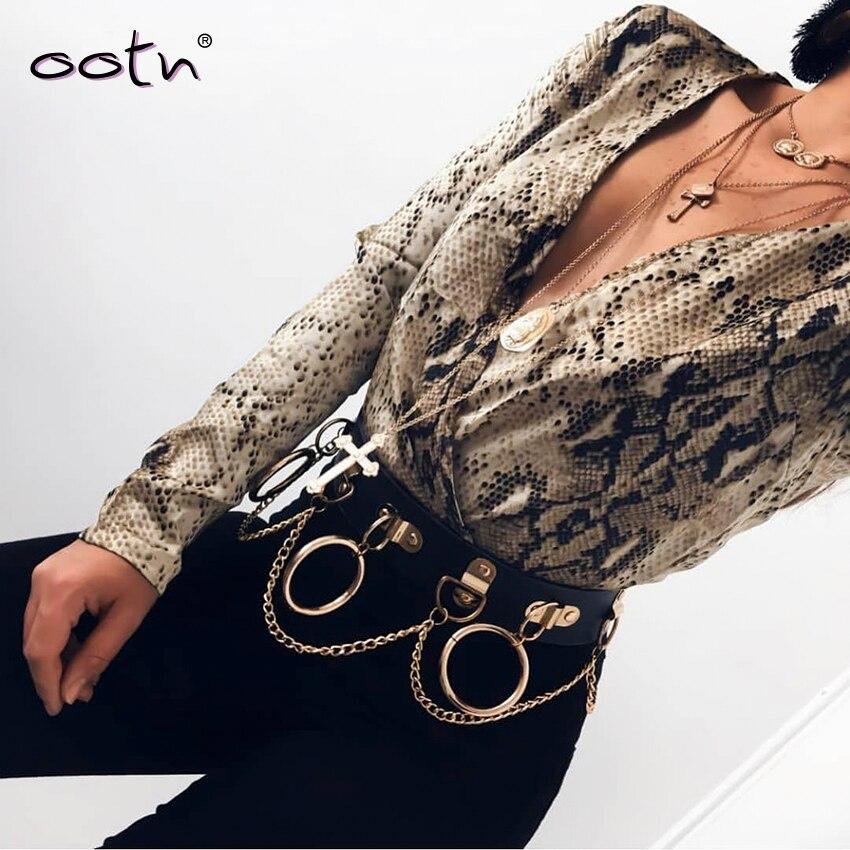OOTN Snake Print Silk Rompers Womens Vintage Bodysuit Long Sleeve Top Shirt Deep V Neck Snake Skin Satin Jumpsuit Female Autumn