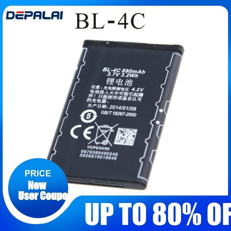 890mAh Replacement BL-4C BL4C Cell <font><b>Phone</b></font> Battery <font><b>Nokia</b></font> 6100 6125 6136 6170 <font><b>6300</b></font> 7705 7200 7270 8208 BL 4C Batteries image