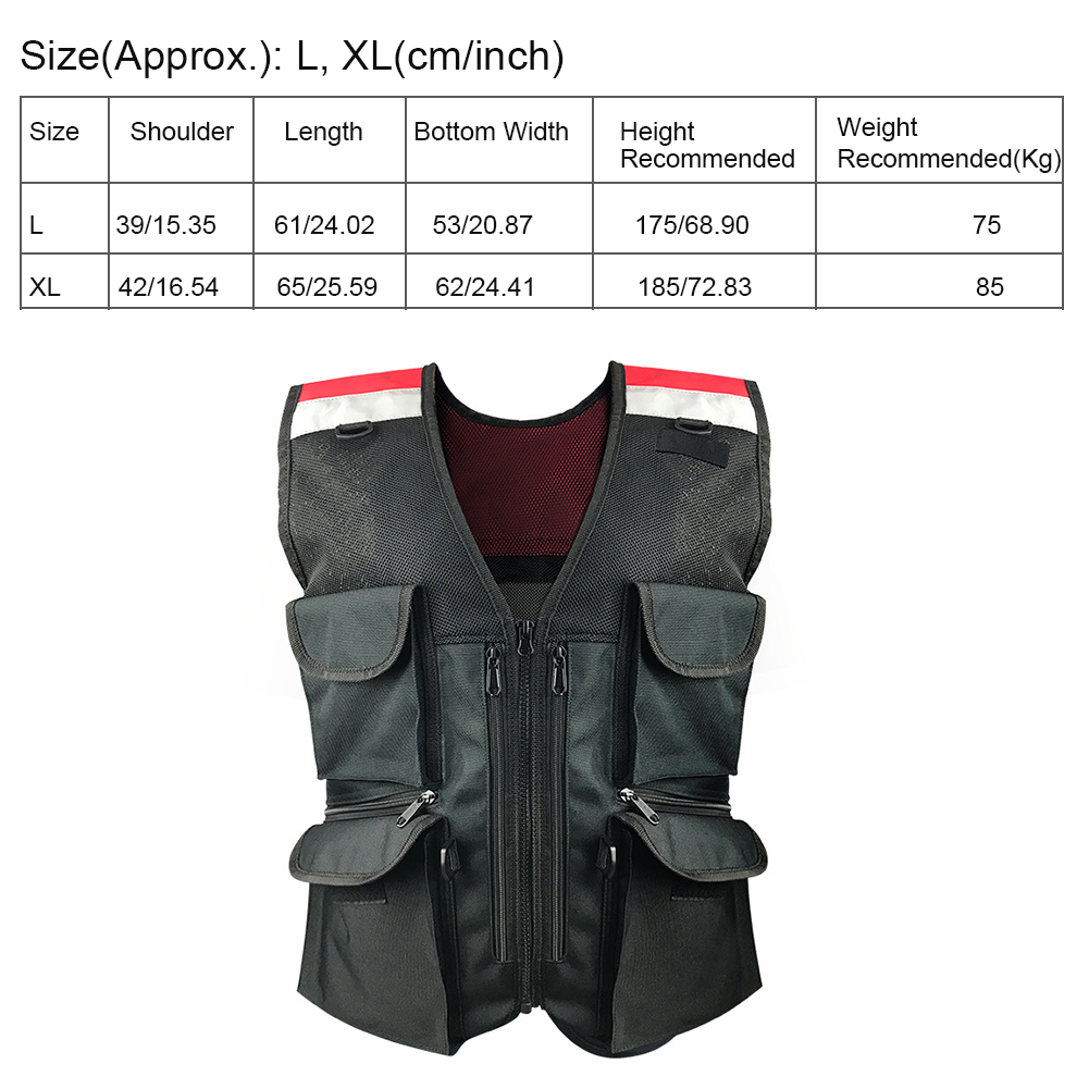 Men Women Reflective Safety Vest Motorcycle Apparel Soft Riding Breathable Mesh Oxford Cloth Jogging With Pocket Outdoor Sports