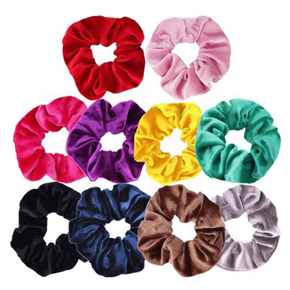 Multicolor 20pcs Headband Head Rope Durable Fashion Ponytail Alloy Retro Punk 10pcs Ladies Hair Band Accessories Jewelry Style
