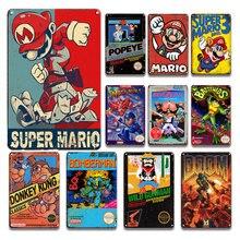 Avertissement Gamer seulement Plaque de métal signes Vintage salle de jeu décor étain affiche signe mode salon maison Plaque décorative enfant cadeau
