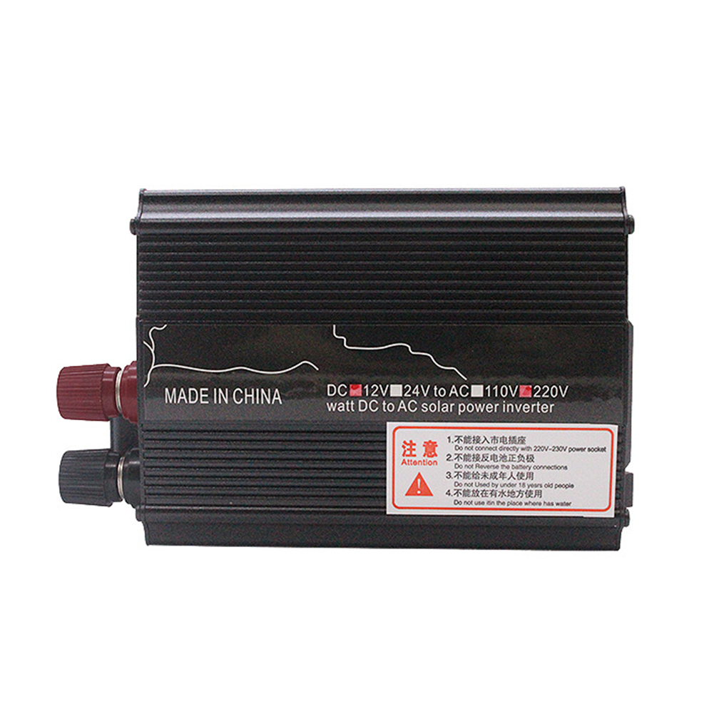 <font><b>1000W</b></font> Pure Sine Wave Universal <font><b>12V</b></font> 24V To 220V Easy Install Car <font><b>Inverter</b></font> Solar Powered Transformer Black Replacement Power image