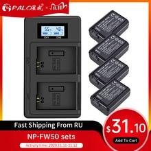פאלו 2pcs 2000mAh NP FW50 NP FW50 מצלמה סוללה + LCD USB הכפול מטען עבור Sony Alpha a6500 a6300 a6000 a5000 a3000 NEX 3 a7R