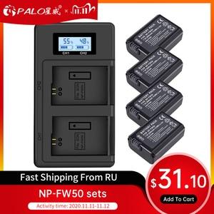 Image 1 - PALO 2 adet 2000mAh NP FW50 NP FW50 kamera pil + LCD USB çifte şarj makinesi Sony Alpha a6500 a6300 a6000 a5000 a3000 NEX 3 a7R