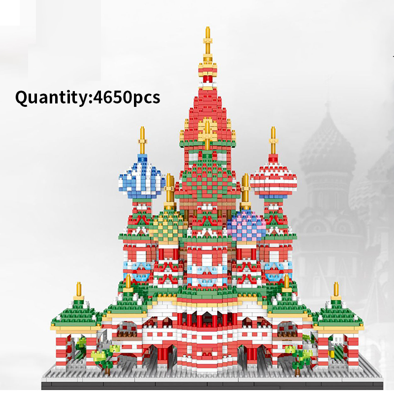 Assemble Architecture Saint Basil's Cathedral Building Blocks Toy Educational Bricks Kids Gifts