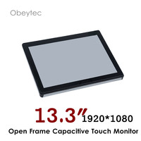 13.3 inch monitor for POS system all in one, 1920*1080,300cd/m2 capacitive touch screen, 10 touch points, OB OPM 133
