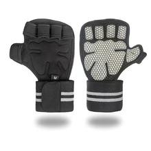Перчатки для занятий тяжелой атлетикой для женщин и мужчин, для фитнеса, с ремешком на запястье, для бодибилдинга, гимнастики, для рук, ладони, перчатки для тяжелой атлетики