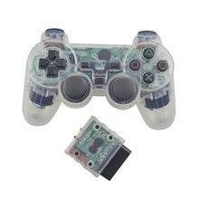 Kablosuz Gamepad Sony PS2 için Playstation 2 konsolu Joystick çift titreşim şok Joypad kablosuz Controle