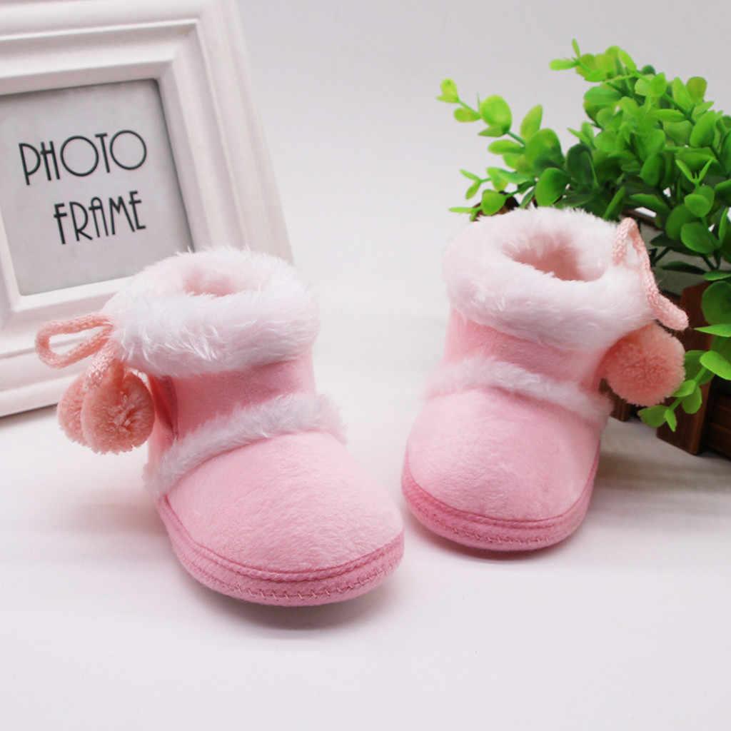Trẻ Sơ Sinh Ủng Bé Sơ Sinh Bé Gái Cashmere Sang Trọng Mùa Đông Giày Băng Ấm Giày Trẻ Em Plus Nhung Dày Giày