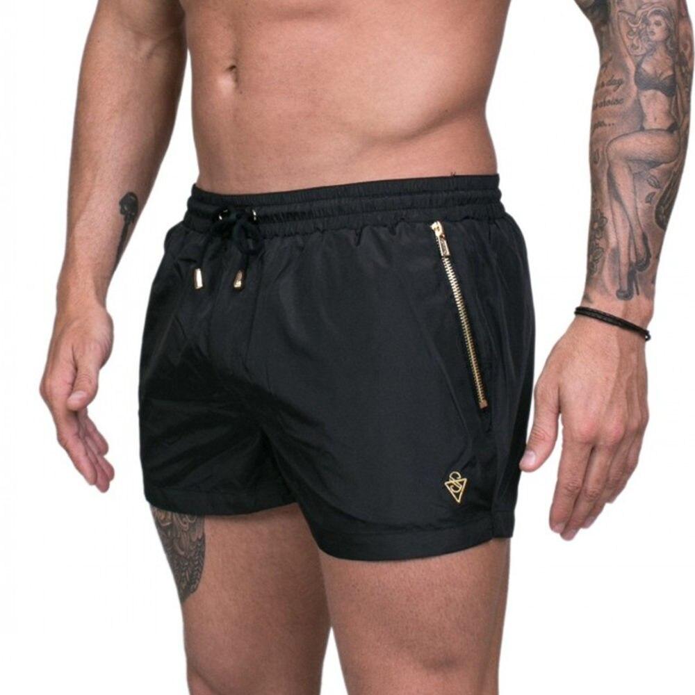 Black Running Sport Shorts Men Gym Fitness Short Pants Summer Casual Thin Bermuda Male Quick Dry Beach Shorts Breechcloth Bottom
