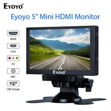 Eyoyo S501H 5 Inch 800X480 Car RearView Monitor with HDMI VGA BNC Home Security Rear View Camera Parking Backup Reverse Monitor