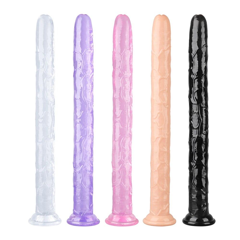 Супер длинный реалистичный пенис, ремень для дилдо с присоской из мягкого прозрачного пластика пенис для лесбиянок, G-Spot Стимулятор клитора ...