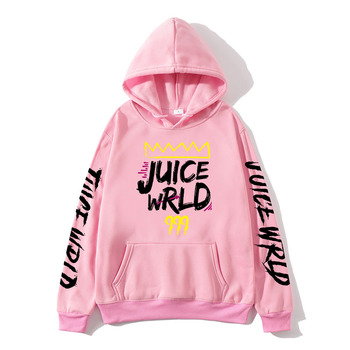 2020 black and white red J UICEWrld hoodie   3
