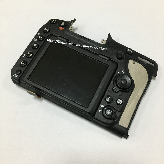 Repair Parts For Nikon D850 Rear Case Back Cover Assy With LCD Display Screen Unit and Hinge Flex Cable
