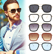 New Sunglasses Fashion Personality Men and Women Trend Transparent Ocean Film