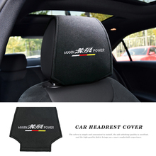 1/2PCS Auto Car Seat Neck Pillow Protection Safety Auto Headrest For Honda Mugen Power Civic Accord CRV Hrv Jazz Badge Styling