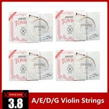 4 шт./компл. A/E/D/G скрипки струны из нержавеющей стали музыкальный инструмент скрипки Tonica Запчасти аксессуары для скрипки строка для 4/4 скрипки