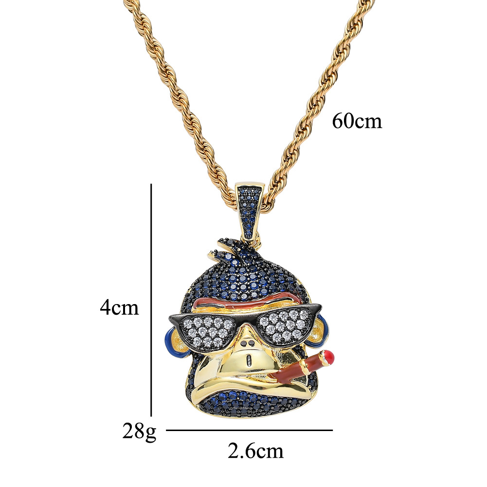 Gold Cz Iced Multicolored Ape Pendant Hip Hop Jewelry For Amazon Ebay Wish Online Store For Wholesale Agent In Stock Pendant Necklaces Aliexpress