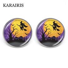 Круглые серьги karairis 18 мм на Хэллоуин в стиле панк с изображением