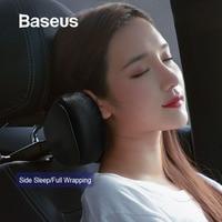 Baseus Car Neck Pillow Headrest Pillows PU Leather + Memory Cotton Auto Neck Rest Cushion Pad Travel Pillow in the Car