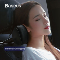 Baseus Car Neck Pillow Headrest Pillows PU Leather + Memory Cotton Auto Neck Rest Cushion Pad Travel Pillow in the Car
