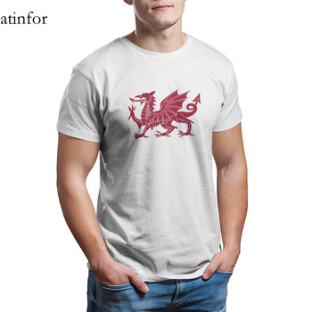 Welsh Dragon Y Ddraig Goch Shirt 100% Cotton Wholesale Clothes Kawaii Short Sleeve Graphic Plus Size Clothing 15080 image