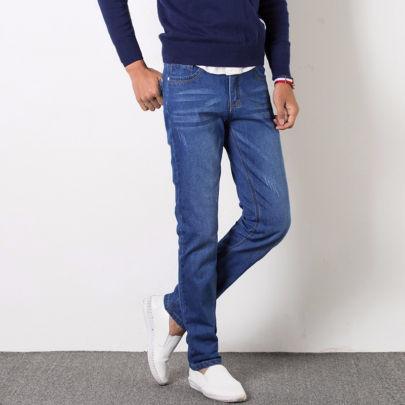 2019 Four Seasons New Style Men's Casual High Quality Slim Fit Trousers  Men Jeans Fashion Classic Denim Skinny Jeans Men 28-38