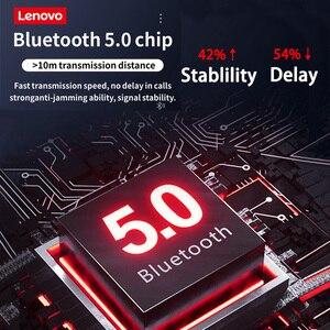 Image 3 - Lenovo QE07 Bluetooth 5.0 Wireless Earphones Waterproof Sport Earbuds Noise Cancelling Mic Headset Magnetic Neckband Headphone