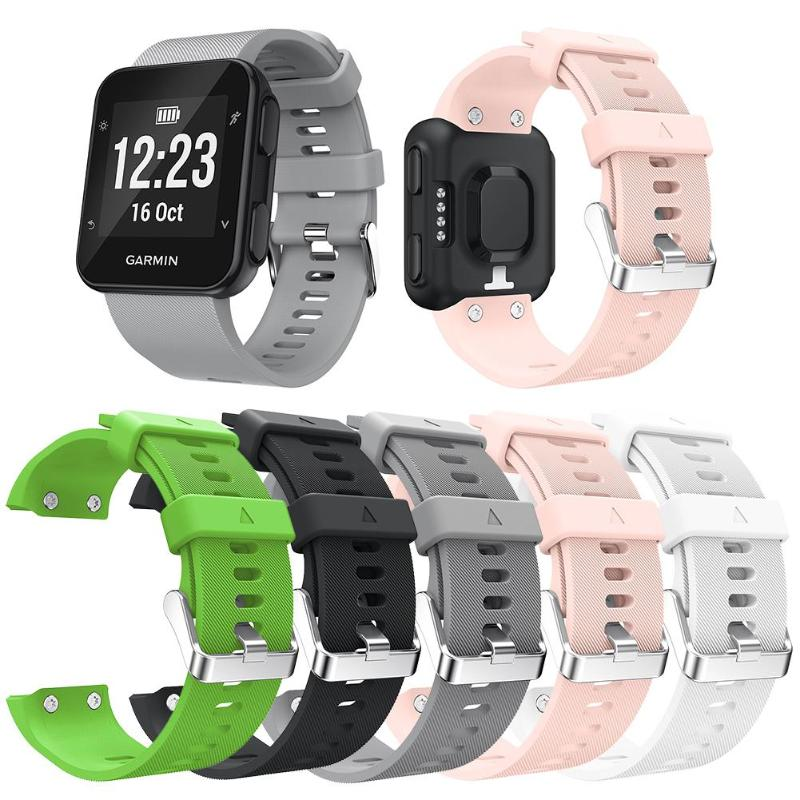 Replacement Wristband Silicone Wrist Strap Bracelet Watch Band W/Buckle For Garmin Forerunner 35 Smart Watch Bracelet Strap New