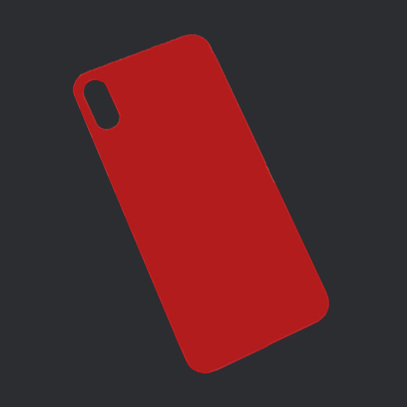 Back Battery Glass Cover Custom Color Red For IPhone X Red 5.8 Inches Rear Housing Glass Big Hole Replacement Without Lens