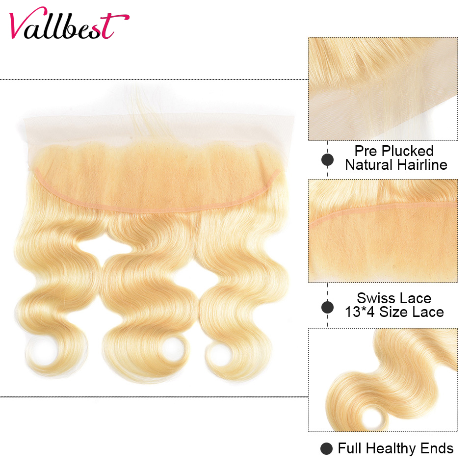 H30f96d9515df4eb2adee5fd19831d44e2 Vallbest 613 Bundles With Frontal Brazilian Body Wave 3 Bundles With Closure Remy Human Hair Blonde Bundles With Frontal Closure