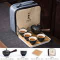 Набор чайных чашек, китайский чайный набор, керамическая чайная чашка кунг-фу, чайный чайник с пакетиком, чайный портативный дорожный уличн...