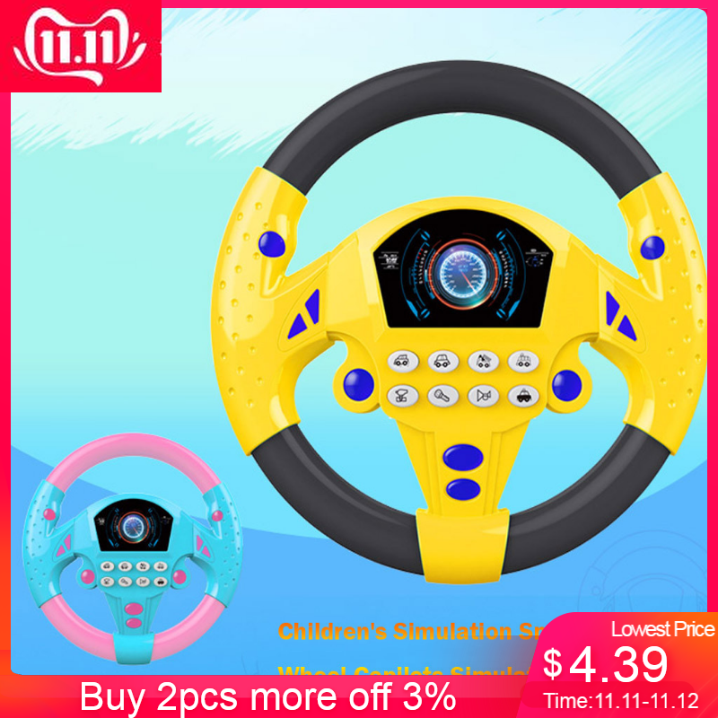 Toys Steering-Toy Baby Kids Children's Small for Boy Gift -Es Simulation Copilots