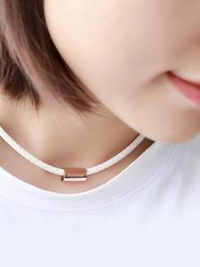 Silicone Necklace Pendant Anions Fda Registration Power-Ionics Health Sports Titanium