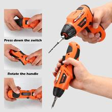 4.2V Mini Electric Screwdriver Rechargeable Cordless Hand Drill Screw Driver Kit USB Charging Wireless LED Lighting