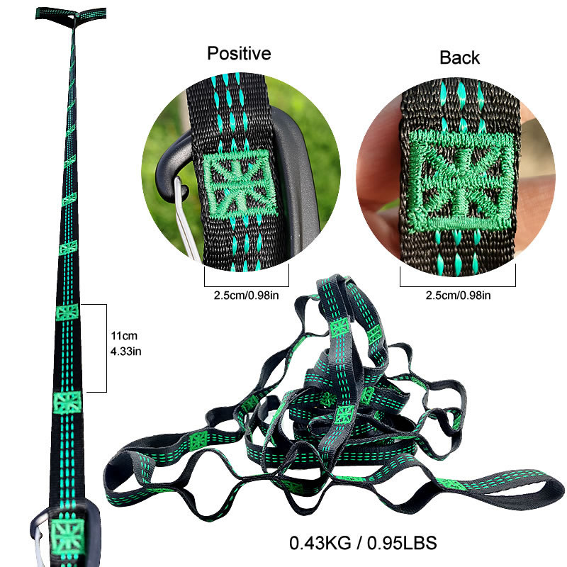 Hammock Straps Camping Hiking 3m With Adjustable Loops Hanging Belt Lightweight Extra-Long