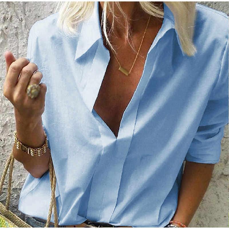 NIBESSER 2019 新女性ブラウストップス女性労働事務所ドットプリントブラウスシャツカジュアル長袖シャツブラウス femmes モード blusas