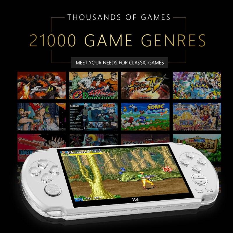 2019 plus récent intégré 21000 jeux 8GB 5 pouces PMP lecteur de jeu Portable MP3 MP4 MP5 lecteur vidéo FM caméra Portable Console de jeu