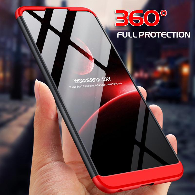 3 in 1 360 Hard Luxury Case For ASUS Zenfone Max Pro M2 ZB633KL ZB631KL M1 ZB602KL ZB601KL Shockproof Tempered Glass